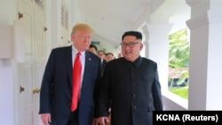 Donald Trump i Kim Jong Un, Singapur