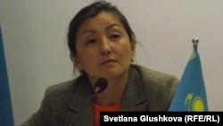 Анара Ибраева, руководитель филиала Казахстанского бюро по правам человека. Астана, 23 апреля 2014 года.