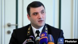 Armenia -- Prosecutor-General Gevorg Kostanian at a news conference in Yerevan, June 25, 2014.