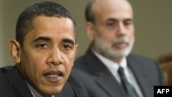 U.S. President Barack Obama (left) and Fed Chairman Ben Bernanke after a meeting in Washington in early April.