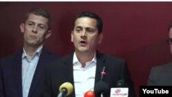 Архивска фотографија: Алексадар Михајловски, предводник на иницијативата за реформи во ВМРО-ДПМНЕ, на прес-конференција во Скопје