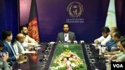 آرشیف/ تصویر از نشست خبری در کریکت بورد افغانستان