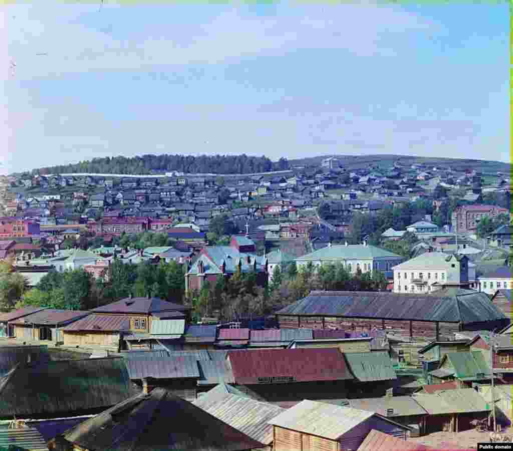 A Prokhudin-Gorskii picture of the city from the early 1900s
