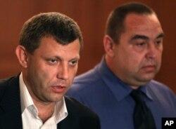 """Александр Захарченко и бывший глава """"ЛНР"""" Игорь Плотницкий, который после своей отставки, по неподтвержденным данным, живет в России."""