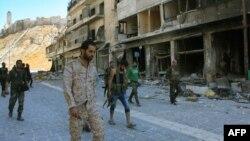 نیروهای دولتی در شمال غرب حلب در ماه سپتامبر