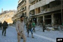 Один из кварталов Алеппо, захваченный с боем сторонниками Башара Асада
