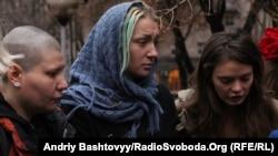 Актывісткі «Femen» Іна Шаўчэнка, Аксана Шачко і Аляксандра Нямчынава