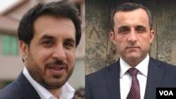 ارشیف، د انځور ښي خواته امرالله صالح او چپ خواته اسدالله خالد نوي ټاکل شوي وزیران