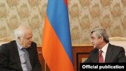 Президент Армении принимает комиссара Совета Европы по правам человека Томаса Хаммарберга