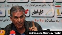 کیروش سرمربی تیم ملی فوتبال ایران