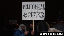 Protest anticoruoție și antiguvernamental, Piața Victoriei, București, 11 februarie 2017