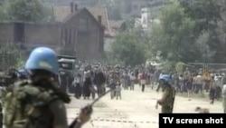 UN vojnici u Srebrenici, Jul 1995.