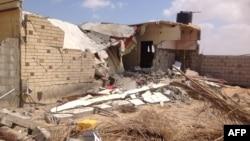 أبنية مدمرة في عملية شنها الجيش المصري بشيخ زويد في سيناء