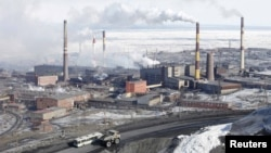 The Norilsk Nickel plant