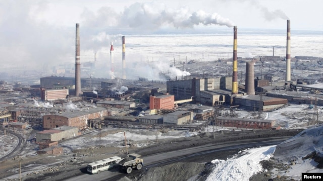The Norilsk Nickel plant