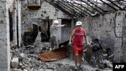 Пачатак працаў у разбуранай кавярні ў вызваленым ад сэпаратыстаў Славянску