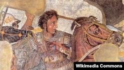 Dio mozaika na kojem je prikazan Aleksandar Veliki