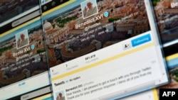 Экран компьютера, на котором видно первое твит-сообщение Папы Римского. Рим, 12 декабря 2012 года.