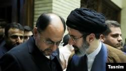 Mojtaba Hosseini Khamenei a son of Ali Khamenei)R) Vahid Haqqanian, Deputy Special Affairs Office of the Supreme Leader of the Islamic Republic. File photo