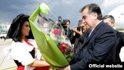 Прибытие президента Таджикистана в Страсбург, 5 июня 2011 года