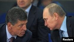 Дмитрий Козак (слева) и Владимир Путин