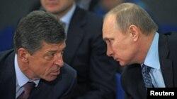 Зліва направо: Дмитро Козак і Володимир Путін (архівне фото)
