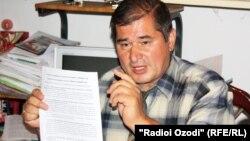 Тәжікстанның оппозициялық социал-демократиялық партиясы жетекшісі Рахматилло Зоиров. Тәжікстан, 22 қыркүйек 2012 жыл.