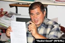 Председатель оппозиционной Социал-демократической партии Таджикистана (СДПТ) Рахматилло Зойиров. 22 сентября 2012 года.