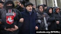 Павал Севярынец на мітынгу прадпрымальнікаў 22 лютага