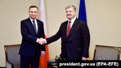 Анджей Дуда й Петро Порошенко