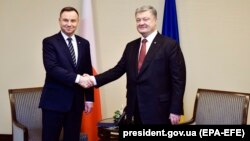 Анджей Дуда та Петро Порошенко
