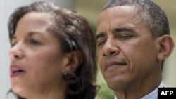 Сюзан Райс (ліворуч) і Барак Обама (праворуч)