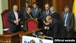 В залі пленарних засідань Верховної Ради України, 22 жовтня 2010 року