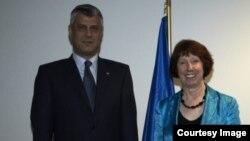 Kryeministri Hashim Thaçi dhe përfaqësuesja e BE-së Catherine Ashton
