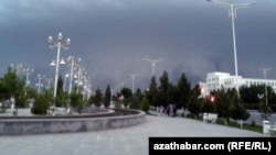 The provincial capital, Turkmenabat, was heavily hit by the storms.