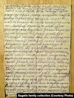 Jozefa's first letter home