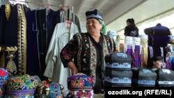 Женщина на базаре «Сиёб» в Самарканде. Иллюстративное фото.