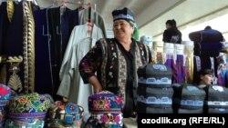 Özbəkistan. Səmərqənddə bazar