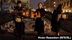 Акция в поддержку Петра Павленского (Петербург, 8 марта 2016 года)