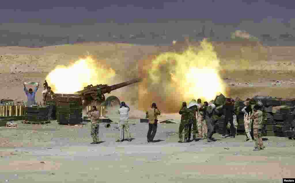 شلیک توپ از سوی شبهنظامیان شیعی در عراق
