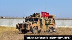 یک موتر نظامیان ترکیه در سوریه. 24 September 2019