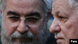 Хасан Роухани (слева)