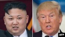 Ким Чен Ын и Дональд Трамп.