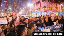 Demonstrație în sprijinul secularismului, Ankara, 4 ianuarie 2017