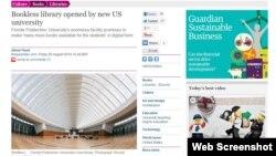 ABŞ-da açılan yeni kitabxanada nə rəf var, nə kağız kitab, nə də kitab anbarı (The Guardian)
