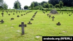 Нямецкі парадак на могілках у Барунах