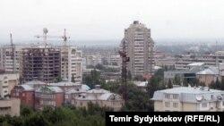 Вид на Бишкек.