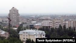 Вид на современный Бишкек.
