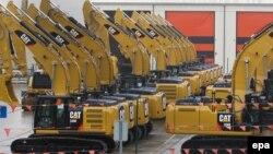 Дорожные строительные машины американского производства. Иллюстративное фото.