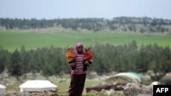 Prizor iz izbjegličkog kampa kod grada Afrina, u blizini sirijsko-turske granice, fotoarhiv